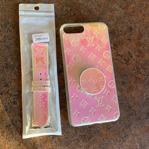 Matching IPhone 7/8 plus case and watch band